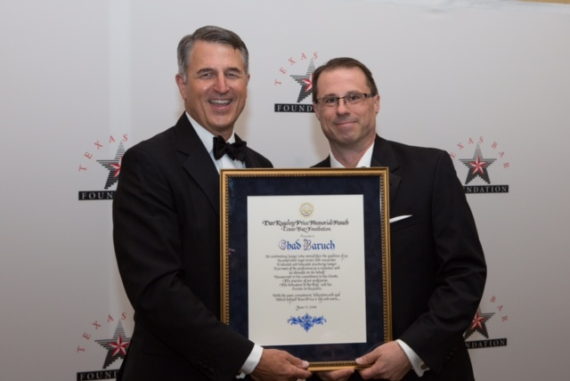 Texas Bar Foundation presents excellence award to Chad Baruch ...