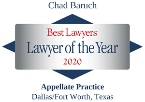 LOTY Chad Baruch -Best Lawyers 2020 Badge diamond