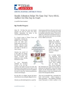 No Easy Day Reprint - Johnston Tobey Baruch