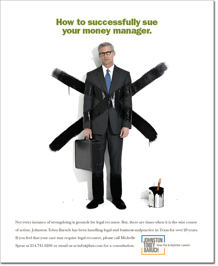 Sue your money manager-Johnston Tobey Baruch