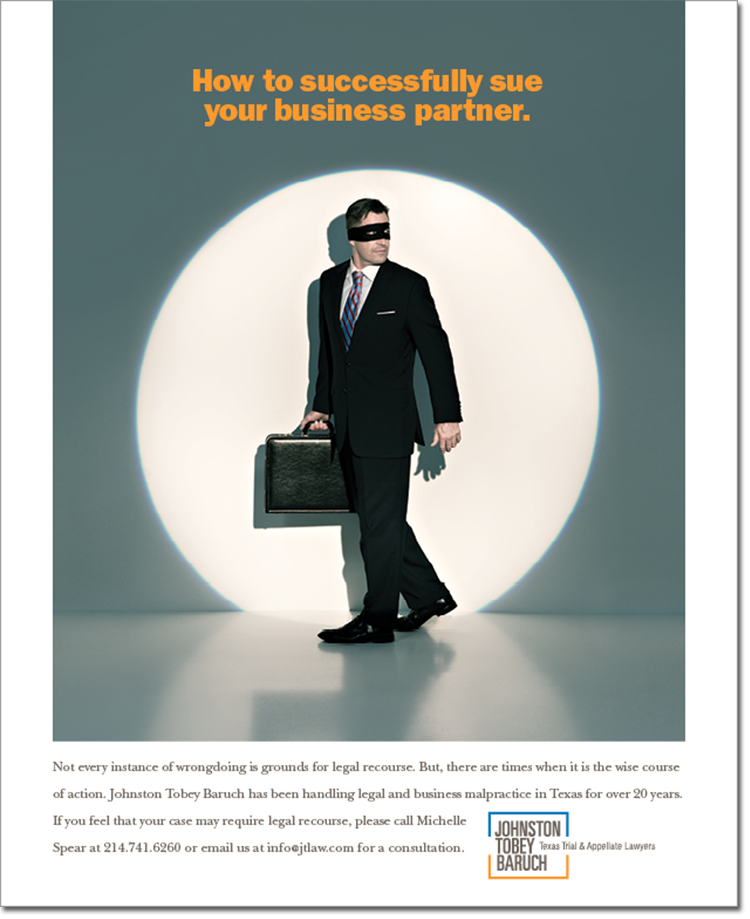 Sue your business partner-Johnston Tobey Baruch