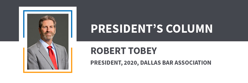 Robert Tobey DBA President's Column 2020 The Year That Was
